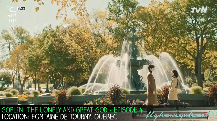 goblin drama location cafe fountaine de tourny quebec