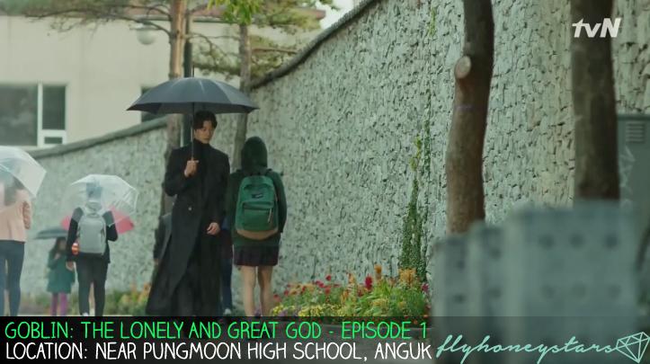 goblin drama location ep 1 umbrella anguk